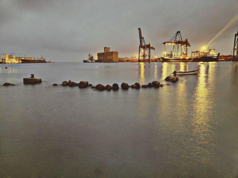 At mooring 5:50 am Mooring Seaport Portsudan Huawei Mate 10 Lite EyeEm Selects EyeEm Gallery Sudan EyeEmNewHere Nature Sky