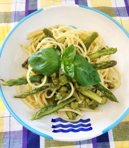 pasta with asparagus !!! enjoy your meal😋😋😋