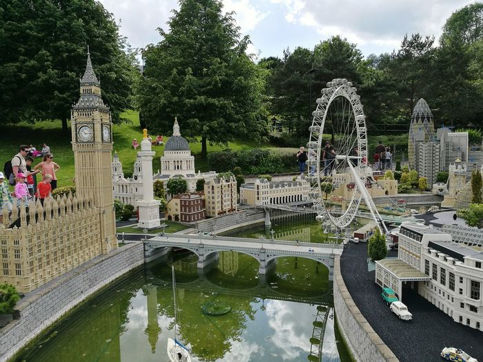 Architecture Day Sky Sculpture Water Tree Outdoors Miniture London Legoland LEGO LegoLover Architecture City Mini London Capital City London London Eye Big Ben, London Big Ben