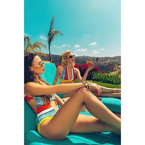 Poolside Pizza. Model @katyalinnik @karishka_mnm Mua Hair @shortstacked83 Styling Designer  @marina_zoj Assistant @sosolaleo Woman Portrait Photography Summer Swimsuit Bikini Sunglasses Raybans Color Blonde Voir Interesting Inspiration Laphotographers Style Fashion