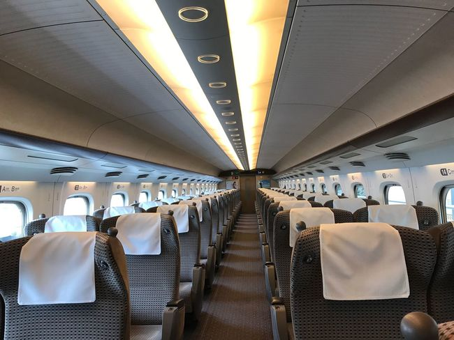 This carriage is reserved. Transportation Vehicle Interior Travel Vehicle Seat Journey Airplane Mode Of Transport Public Transportation Airplane Seat Illuminated Air Vehicle Indoors  No People Seat Commercial Airplane Sitting Day Green Car EyeEm Bullet Train Shinkansen