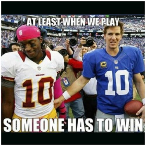 LOL...I'd have to go with NY on that one. Deadskins Skins 0and3 RG0and3 RG0andIII