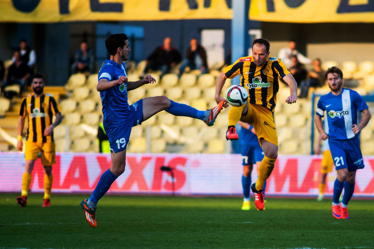 Ael FC win Ethnikos Achnas FC at Tsirio stadium in Limassol for a Cyrpus Football Association game on 28.02.2016 1-0 28.02.2016 AEL FC Cfa CFA2015-2016 Ethnikos Achnas Limassol Cyprus TSIRIO STADIUM LIMASSOL Win For Ael FC