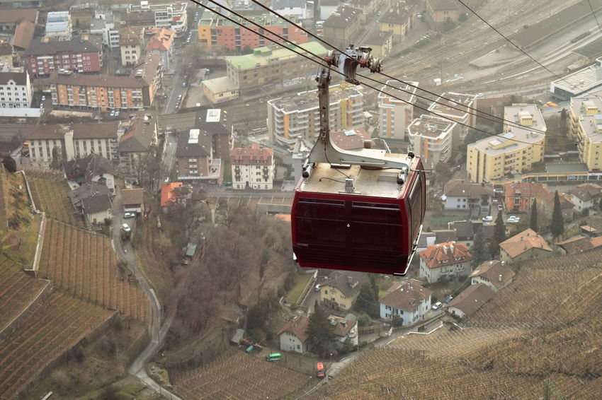 Alto Adige Architecture Bolzano Bolzano - Bozen Bozen Built Structure Cable Car Composition Construction Human Settlement Italy Landscape Railway Renon Residential District South Tyrol Street Top Perspective Tourism Transportation Transportation Travel Trentino Alto Adige Urban Vineyard