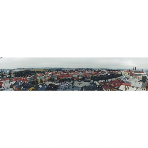 Jihlava View From  Church tower nice city doing nanny children wanted to go up and I had to carry them to the top absolutely exhausted