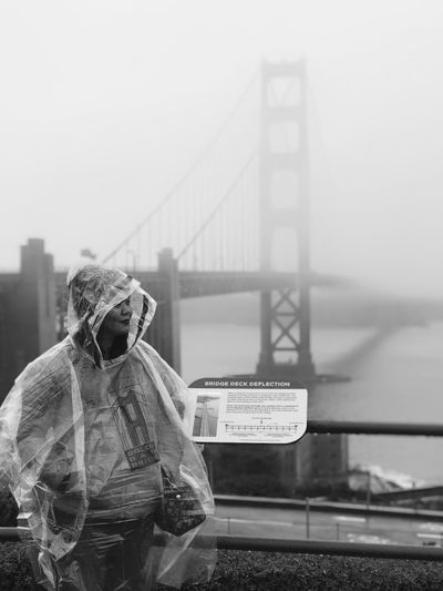 Golden Gate Bridge San Francisco, California FirsttimeinAmerica Firsttimeforeverything Interstateroadtrip Travel Destinations Tourist Destination Foggy Weather Portrait Photography Travel Photography Be. Ready. EyeEmNewHere Black And White Friday An Eye For Travel