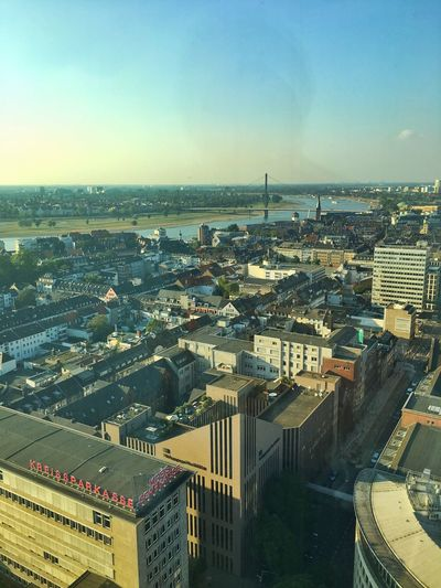 View From Above Duesseldorf River Rhine Pitch Startup