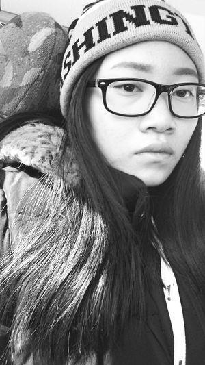 Selfie Unexpectedly Blackandwhite