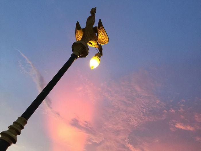 Lamp of lighting. Coulds Lightning Lamp Sky Nature Lighting Equipment Cloud - Sky Sunset Street Light Blue Travel Destinations Beauty In Nature Outdoors Light