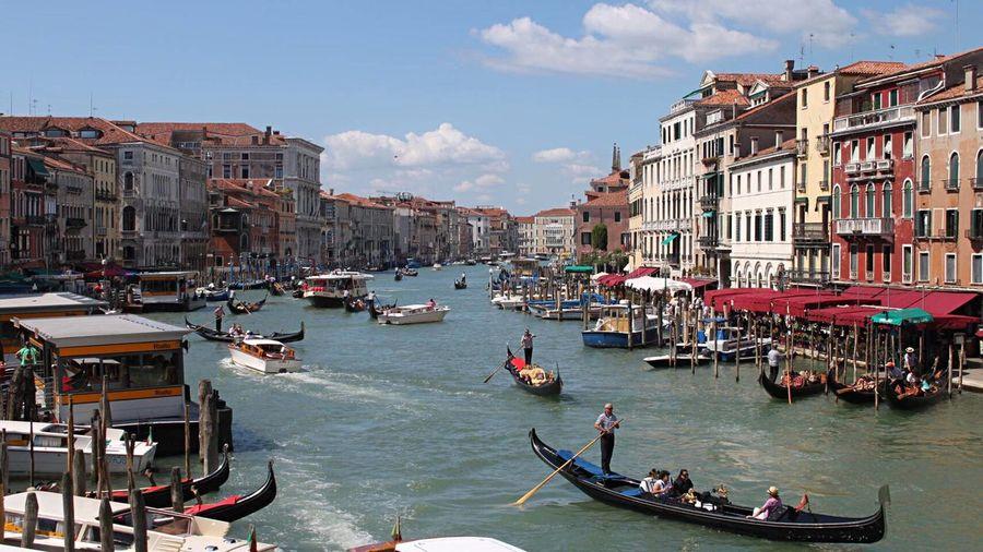 Grand Canal Gondola Travel Photography Venice, Italy Canaletto Cities_collection Citiesworldwide Rialtobridge