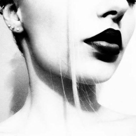 Blackandwhite Black And White Black & White Ear Piercing Dark Lips Today's Hot Look B&w B&w Photography B&W Portrait