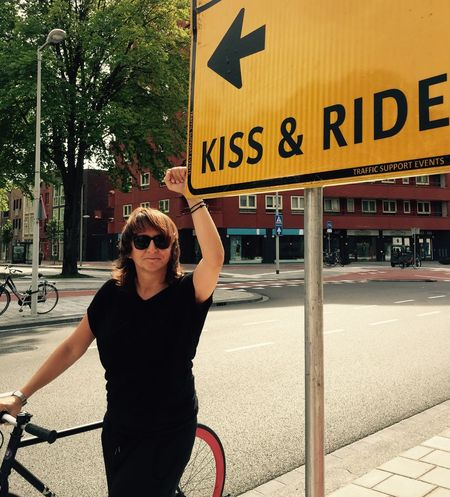 Kiss and Ride Bicycle Kiss Sign Bicycle Trip Bicycleride