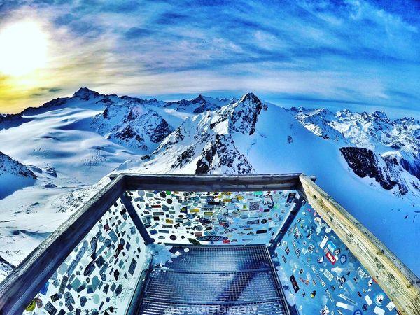 Soelden Skiing Enjoying The View Mountains Snow Austria Tirol  Gopro Beautiful Nature Beautiful Sky Skyporn Europe Alps