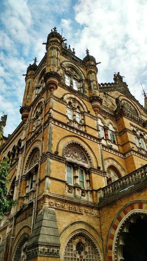 This is Victoria Terminus which is a world heritage site. It is situated in South Mumbai. It was made by the british as a symbol of first railway in India. It reflects the amazing ancient british architecture CST Vt Mumbai India Beautiful Architecture Urban Urbanphotography Urban Geometry Urban Landscape Ancient Architecture Ancient Building Britishstyle British World Heritage Heritage Building Heritage World First Eyeem Photo