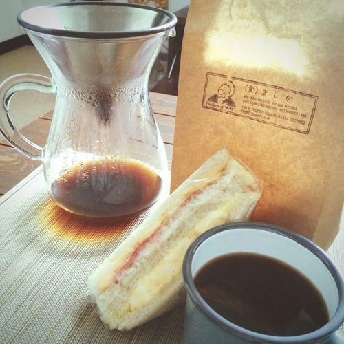 念願ましかのサンドイッチ♡ Good Times Happy Yummy Sandwiches Breakfast Coffee Time Gm  Good Morning