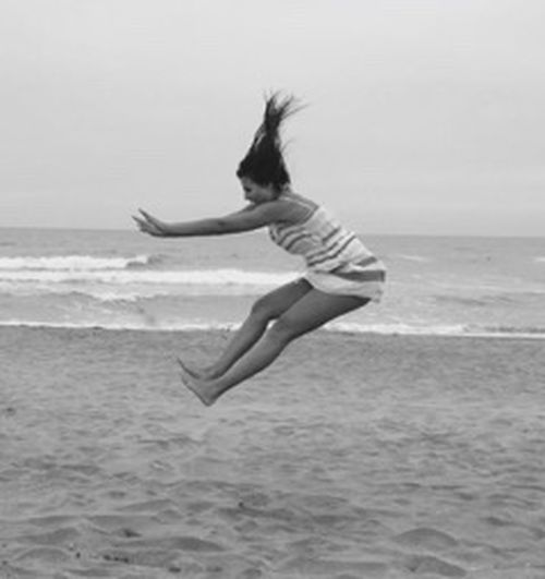 Adrenaline Junkie Up In The Air Capture The Moment Capturing Movement The Moment Girlpower On The Move On The Beach EyeEm BlackandWhite Monocrome Jumpshot Jump Alternative Fitness Perfect Shot Muscles Enjoy EyeEm Best Pics Fly Taking Photos My Best Photo 2015 Capturing Freedom EyeEm Best Edits Life In Motion .M. Photography In Motion