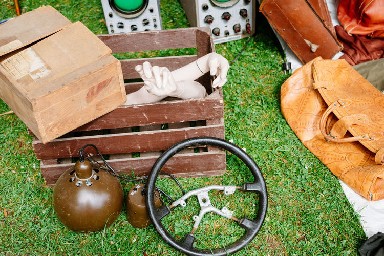 Still Life Germany Junk Day Outdoors Grass Bonn Flea Market Close-up No People Jumble High Angle View EyeEmNewHere #urbanana: The Urban Playground Wood - Material Nature Plant Container Bag Box Green Color Shoe Field Creativity Basket Cardboard Large Group Of Objects My Best Photo