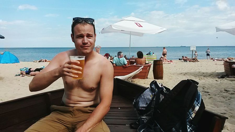 Sopot Poland Pologne Beach Plage Beer