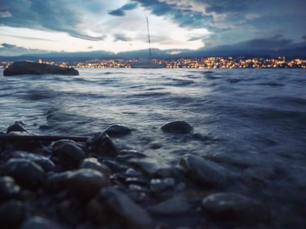 Seaside Sea From My Point Of View Landscape Sunset Clouds Dramatic Sky Water Sky Cloud - Sky Sea Beauty In Nature Nature Scenics - Nature Tranquility Land Tranquil Scene Beach Architecture Waterfront Outdoors Idyllic