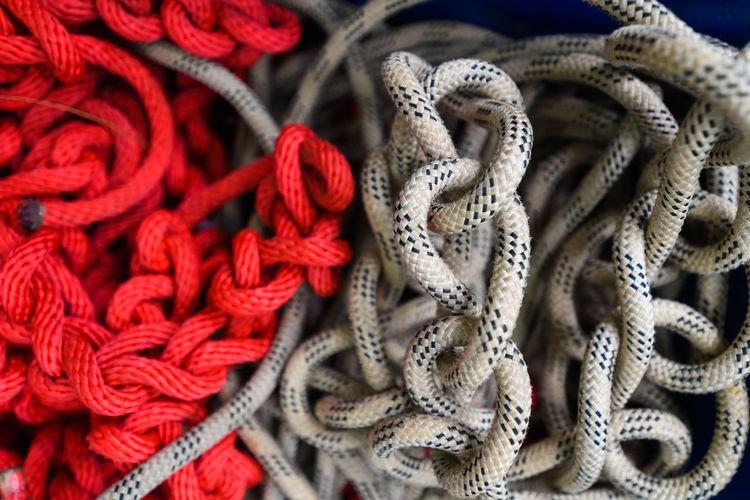 Full frame shot of ropes