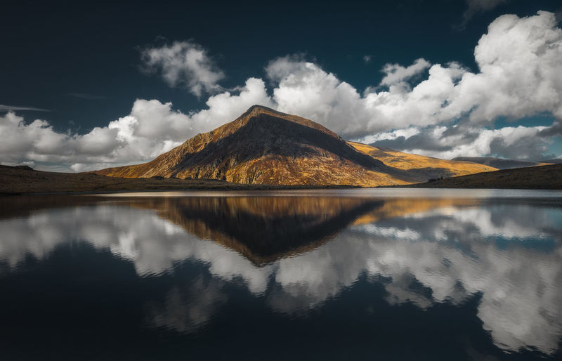Snowdonia National Park Snowdonia Snowdon North Wales Wales Travel Travel Photography British Landscape Landscape_photography Riflection Mirror Reflection Snowcapped Mountain Mountain Range Mountain Peak Sky Only Weather