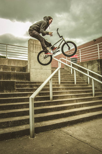 Barspin Bicycles Bmx  Cloud Cloudy Day Overcast Railhop Riding Bike The Way Forward