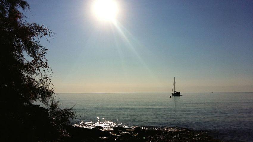 SPAIN Mallorca S'illot Beach Coast Sea Boat Sun Reflection Balearics Balearic Islands Island Landscape Nature July EyeEm