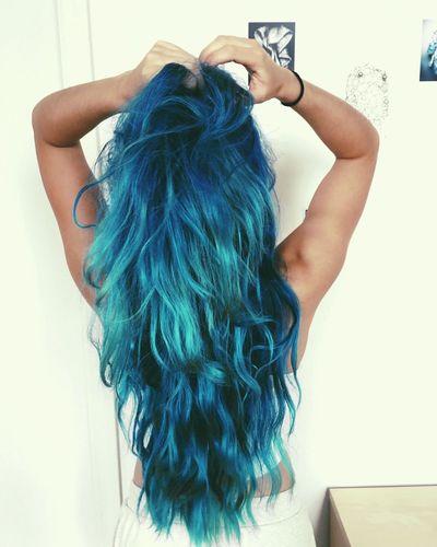 Let Your Hair Down Blue Blue Hair Long Hair Color Crazy Hair