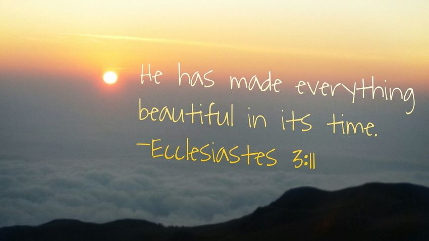 Indeed, God has made everything beautiful. :) Clouds HighAbove Mountain Sunrise Praisethelord Nature BIBLEVERSE Blessed  Mt.pulag Benguet