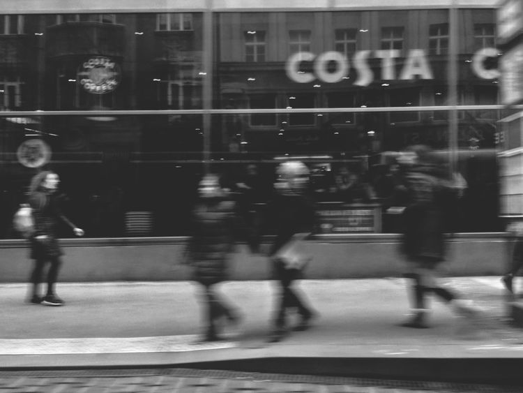 Blackandwhite Streetphotography Blurred Motion Motion Architecture City Walking Real People