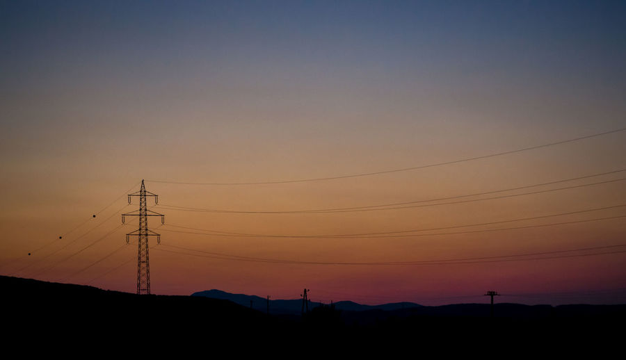 Sunset_collection Beauty In Nature Cable Colorful Sky Connection Electricity  Electricity Pylon Environment Evenig Landscape Nature Non Urban Outdoors Power Line  Power Supply Romantic Sky Scenery Scenics Silhouette Sky Sun Down Sun Down Evening Sunset Technology Tranquility