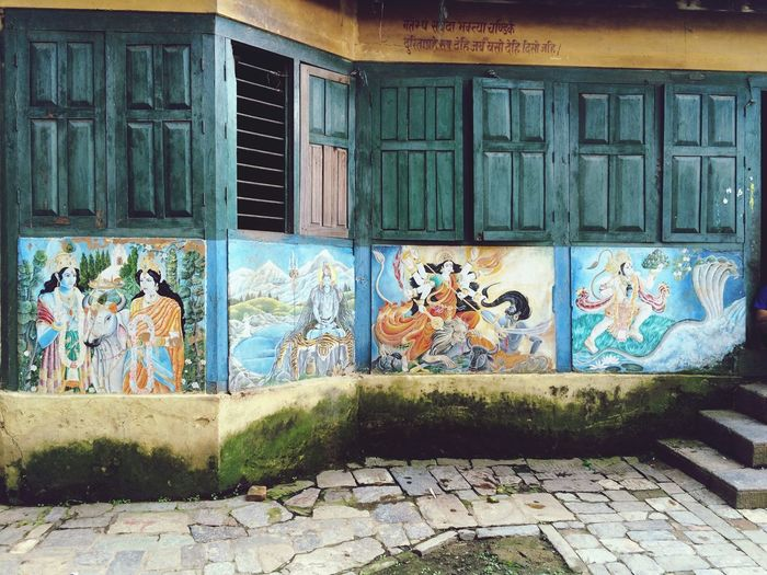 Old Wall Paintings Gods