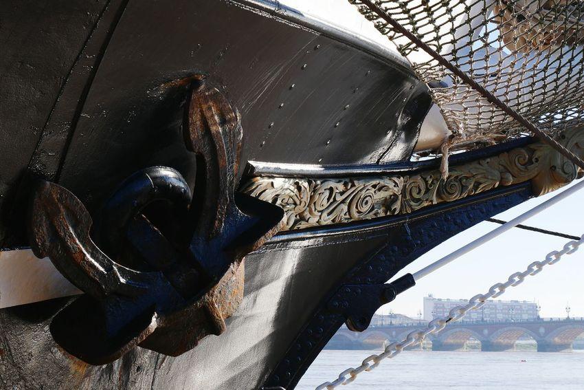 la Proue du Belém Close-up Trois Mats Port De La Lune Bordeaux Boat Old Boat Nautical Equipment Nautical Theme Nautical Clear Sky Low Angle View Yachting Nautical Vessel Minimalism Architecture
