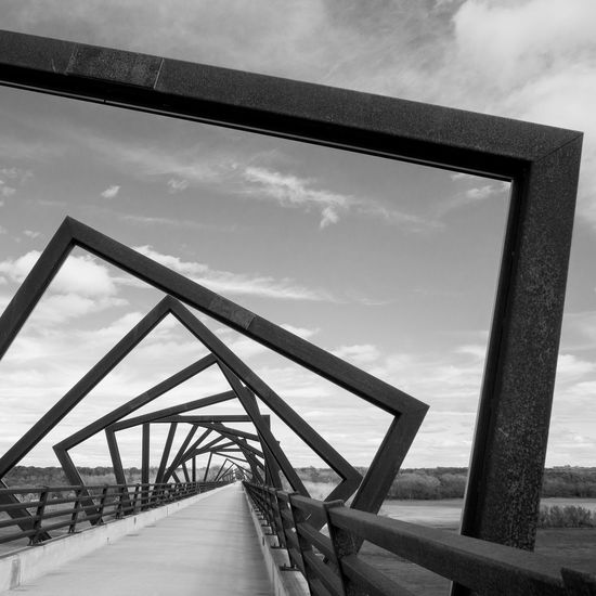 Blackandwhite Bridge Architecture Sculpture