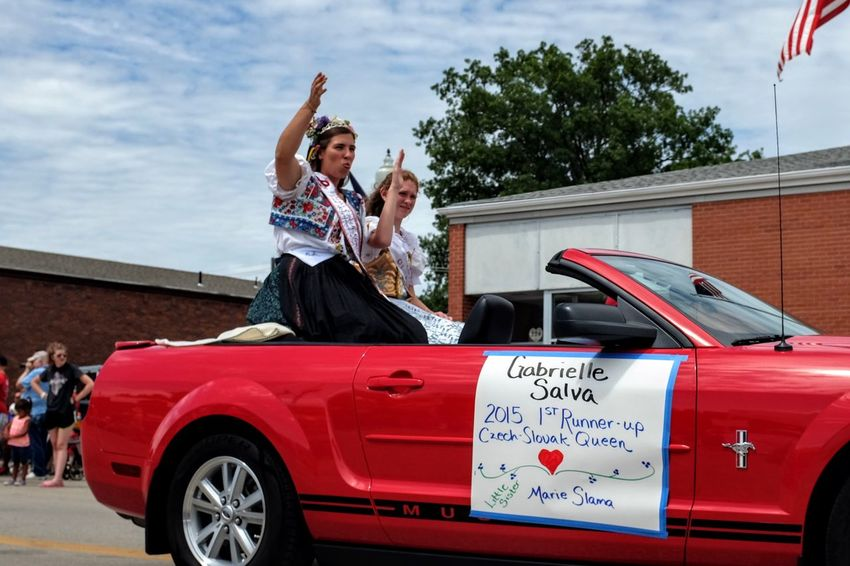 55th Annual National Czech Festival August 5, 2016 Wilber, Nebraska Americana Americans Beauty Queen Celebrate Your Ride Celebration Color Photography Czech Days Czech Festival Czech Queen Czechgirl Event EventPhotography Low Angle View Main Street USA Midday Sunlight Mustang Nebraska Parade Royal Smal Town USA Small Town USA Traditional Clothing Traditional Culture Waving Hello Wilber, Nebraska