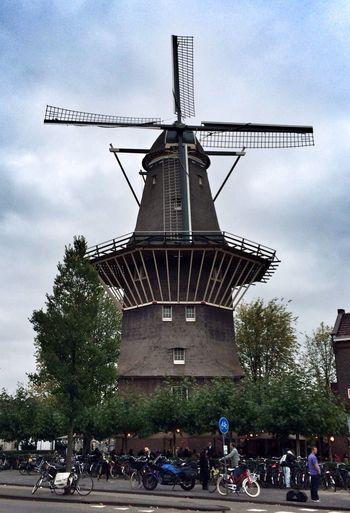 Dutch Windmill Being A Tourist I See Faces