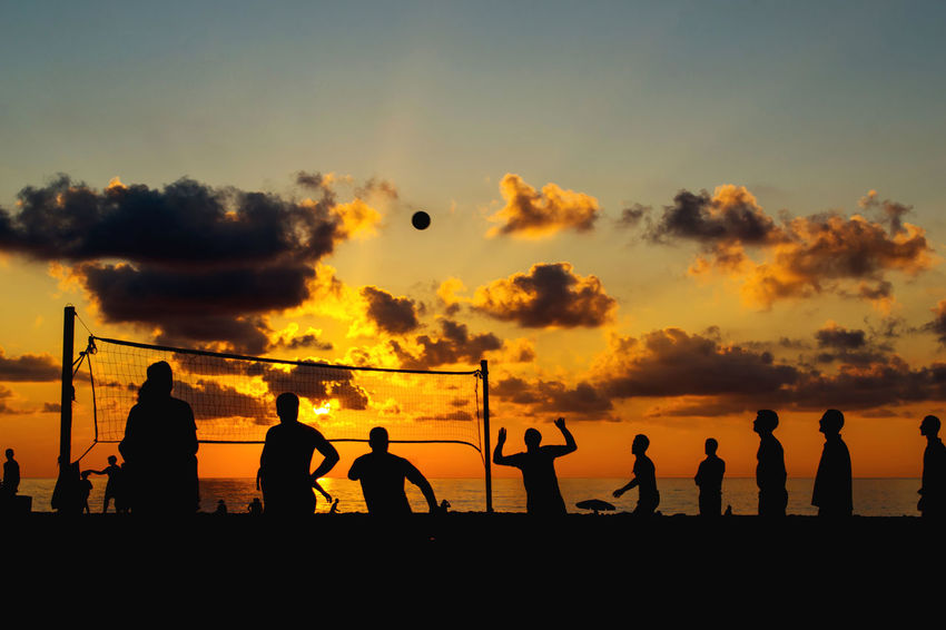 Evening Active Ball Batumi Beach Beach Volleyball Decline Georgia Life In Motion Life Is A Beach Lifestyle Lifestyles Orange Color Outdoors Party People Playing Sea Silhouette Sport Summer Sunset Vacations Volleyball