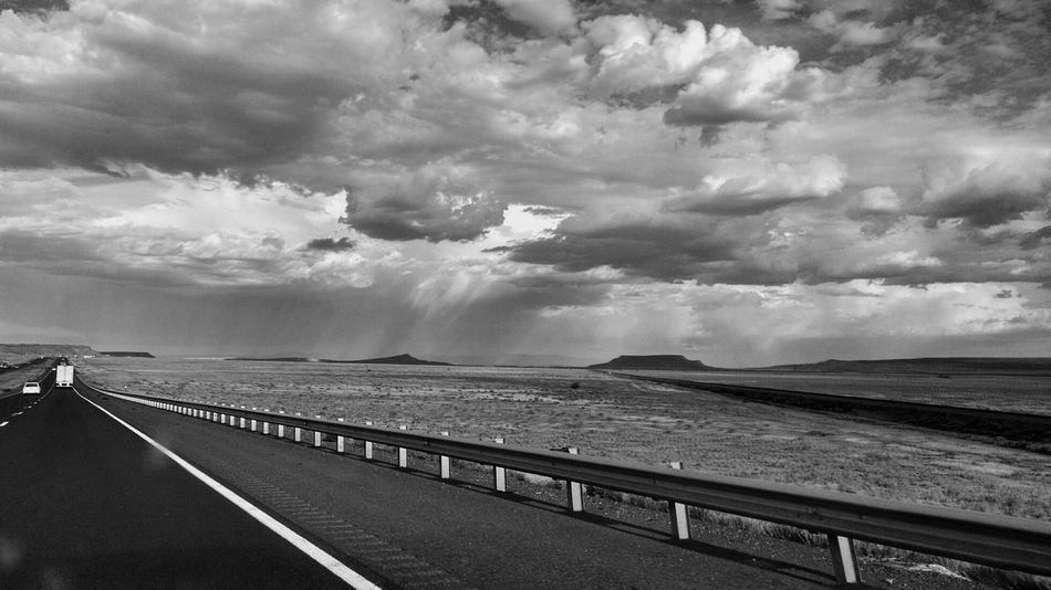 I-40 Ferrouswheelsphotography New Mexico Blackandwhite