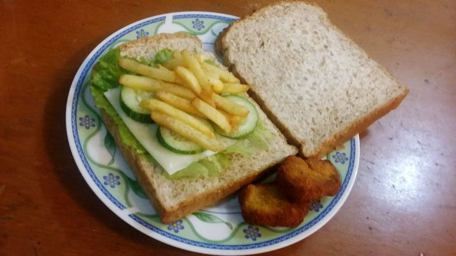 Breakfast Bread Gandum Frenchfries Chesse! Nugget ????