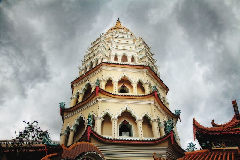 The Tower Penang Travel Destinations South East Asia EyeEmNewHere Architecture Travel Built Structure Architecture Building Exterior Sky Cloud - Sky Religion Place Of Worship Belief Low Angle View Spirituality Travel Destinations Outdoors A New Perspective On Life