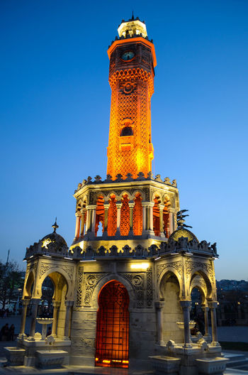 Cityscape Building Exterior Outdoors Built Structure Tower Clock Architecture History City Sky No People Travel Destinations Saat Kulesi Clock Tower Clear Sky Blue Izmirlife Tourism İzmir Clock Tower  Low Angle View Monument Historical Monuments Cityscape Cityscapes Urban