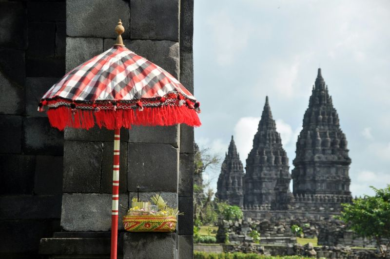 Sunshade outside prambanan temple