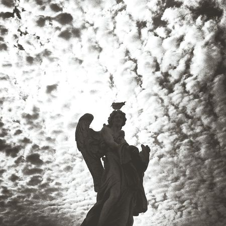 """Comin' home with a little apocalypse"" (D. Byrne) Rome Sunset Silouhette&sky Clouds Skyscape Angel"