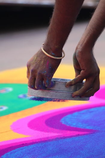 Multi Colored Lifestyles Human Body Part Rangoli Indiancultures Rangolimaker Colorfulindia Fresh On Market 2017 Love Yourself