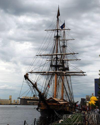 Tall Ship Shipping  Masts Tallships Water Rigging Duluth Minnesota USA Lake Superior