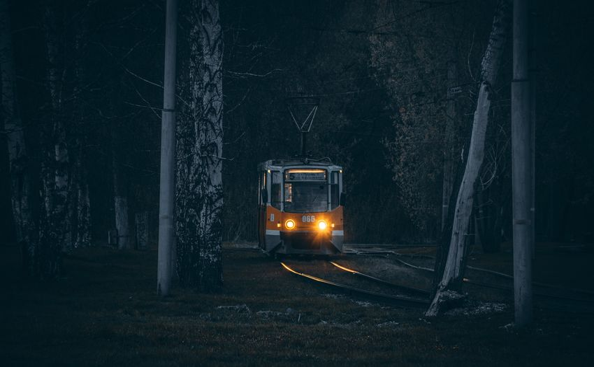 Car on street at night