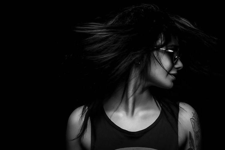 Girl Portrait DmitryBarykin Blackandwhite Black And White Black & White Studio Photostudio Black&white