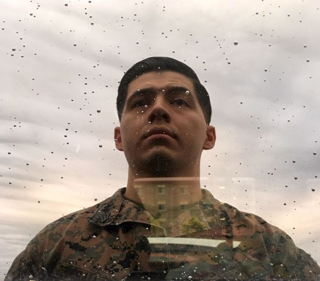 Rain Marine Sgt Jeep Reflection Combover First Eyeem Photo