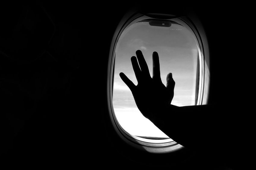 Silhouette CanonpowershotG7X Indonesia_photography Airplanewindow Commercial Airplane Looking Through Window Indonesian Photographers Collection Traveling Home For The Holidays Eyeemphotography Black Background Human Hand EyeEm Gallery MyPhotography Journey Airplane Indonesia_allshot Flying Window Selfietime