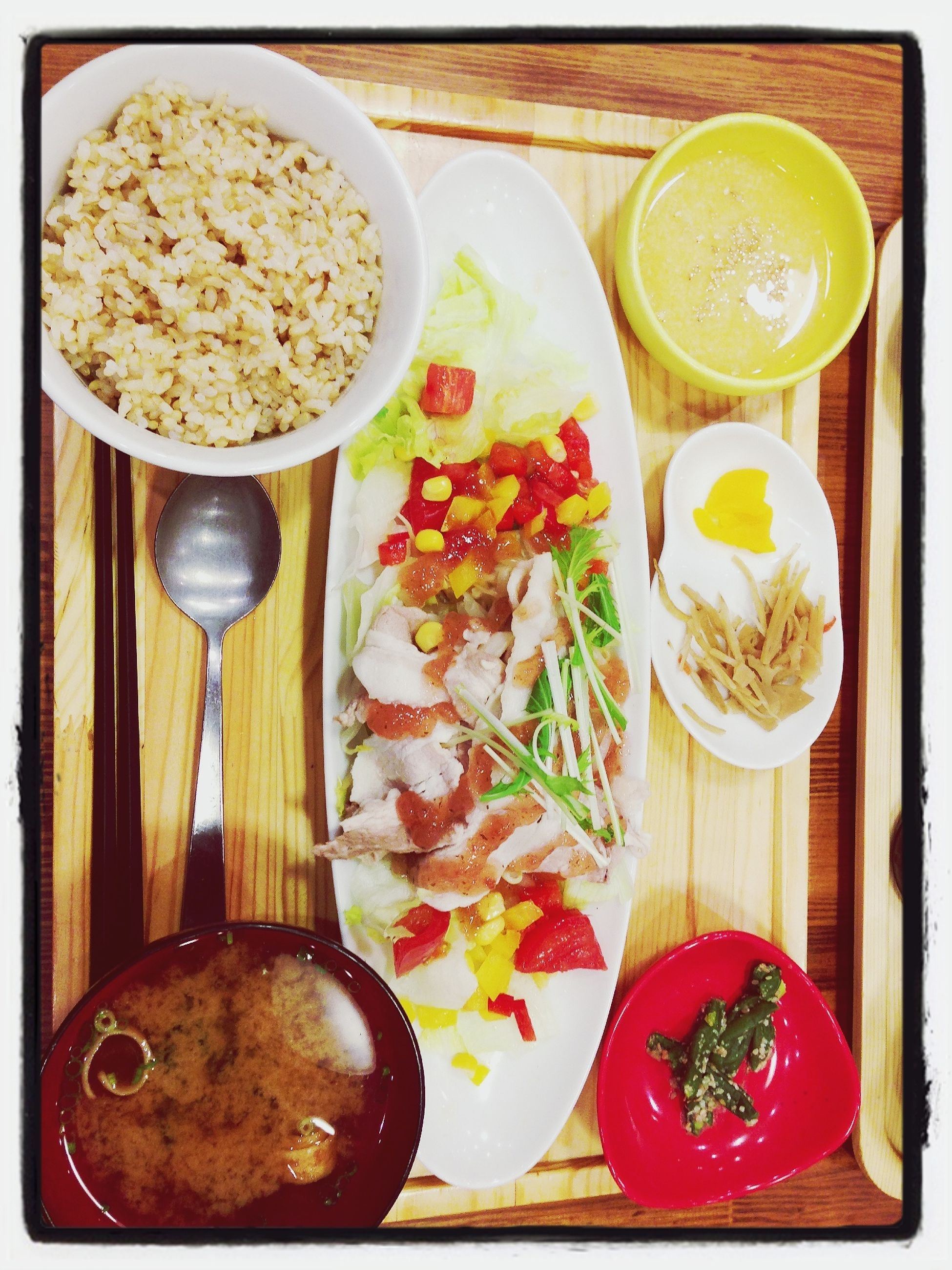 food and drink, freshness, food, indoors, ready-to-eat, healthy eating, table, still life, bowl, plate, drink, meal, high angle view, serving size, refreshment, directly above, breakfast, spoon, indulgence, soup